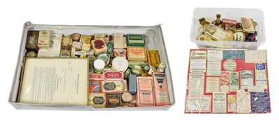 Lot 3092 - Various Pharmacy Items including assorting package medications, labels, eyewash and other items