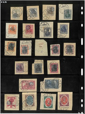 Lot 2093 - Upper Silesia. 1920 Inter-Allied Commission, a spectacular array of the C.I.H.S. handstamps, seldom
