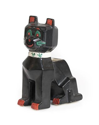 Lot 1016 - An English Pottery ''Louis Wain'' Model of a Futurist Cat, design registered 1914, painted...