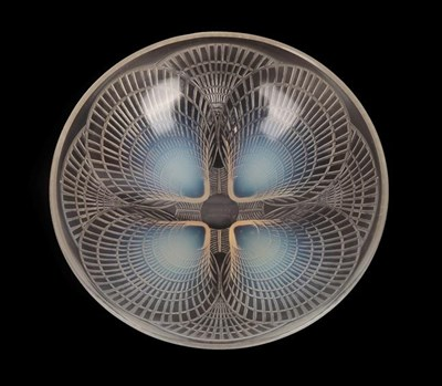 Lot 1025 - René Lalique (French, 1860-1945): A Coquilles Clear and Opalescent Glass Bowl, wheel cut mark...