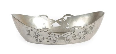 Lot 1029 - Archibald Knox (1864-1933) for Liberty & Co: A Tudric Pewter Bowl, model 0535, with cast and...