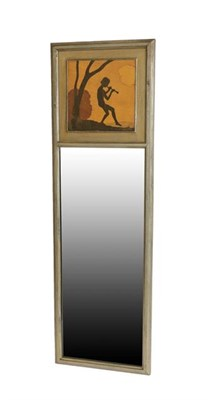 Lot 1039 - An A J Rowley Gallery Marquetry Piper Morn Wall Mirror, labelled A.J.ROWLEY special PIPER MORN...