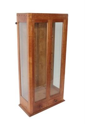 Lot 1053 - Robert Mouseman Thompson (1876-1955): An English Oak Gun Cabinet Display Cupboard, c.1950's,...