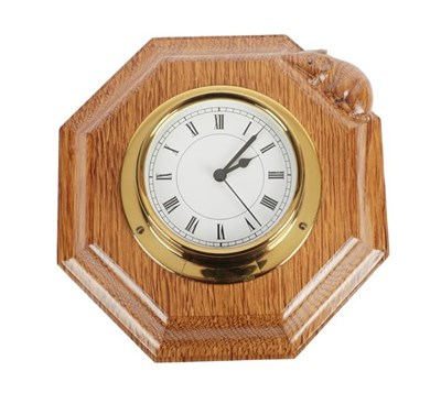 Lot 1082 - Workshop of Robert Mouseman Thompson (Kilburn): An English Oak Clock, with carved mouse...