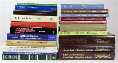 Lot 82 - Deer Interest: A Selection of Books Relating to Game Trophy Hunting, Deer, and other Game...