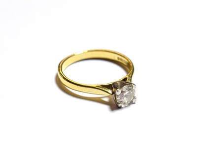 Lot 83 - An 18 carat gold diamond solitaire ring, the round brilliant cut diamond in a white four claw...