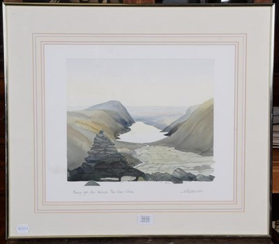 Lot 1010 - Geoffrey Cowton (Contemporary), Evening Light over Wastwater from Great Gable, pencil signed...