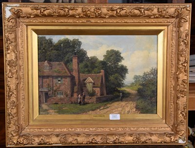 Lot 1021 - Henry John Yeend King (1855-1924), Country path, signed, oil on canvas, 29.5cm by 44cm