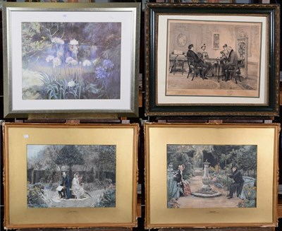 Lot 1027 - After W Dendy Sadler, a pair of framed prints entitled Memories and Sweethearts, 35cm by 50cm,...