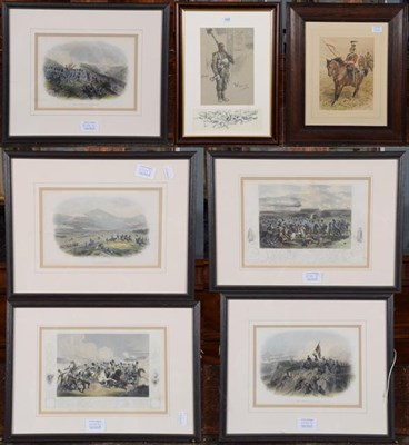 Lot 1029 - Snaffles, ''Wipers'' print together with a John Charlton print of a mounted soldier and a set...