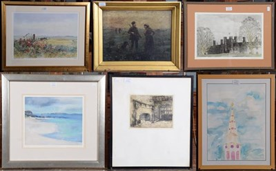 Lot 1037 - A selection of pictures / prints by Bill Toop, R Hunter, A F Smithy, Lawerence Jenkins, Wendy...