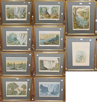 Lot 1039A - After Thomas Baines (1820-1875), A set of eleven colour prints of Victoria Falls & the Zambesi...