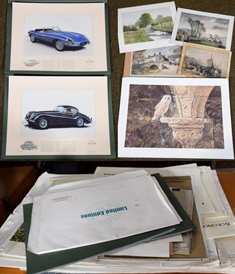Lot 1041 - A large collection of 20th century limited edition prints to include some signed works by David...