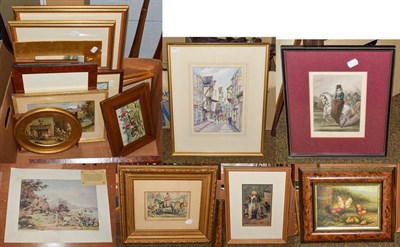 Lot 1043 - A large selection of 20th century prints to include hunting pictures, landscapes, townscapes...