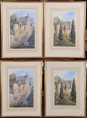 Lot 1049 - Carolina Mildmay (1800-1894), Stob Hall, Perthshire, pair of signed watercolours, 38cm by 24cm (2)