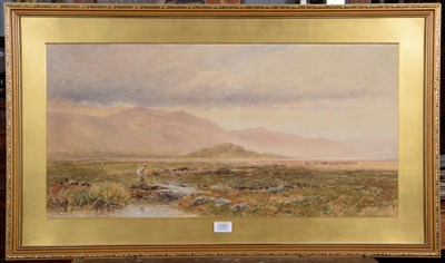 Lot 1050 - John Surtees (1817-1915), Nothumberland moorland landscape, indistinctly signed, watercolour,...