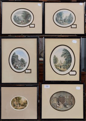 Lot 1054 - Abraham Le Blond (1819-1894), Six oval prints, titled and with blind stamps (6)