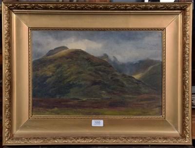 Lot 1055 - Scottish School (19th century) Highland landscape Indistinctly inscribed verso ''Sketch....'',...