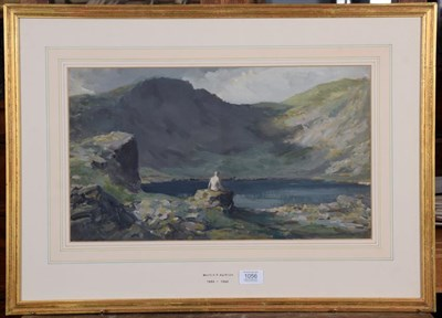 Lot 1056 - Martin Frederick Hamlyn (1886-1966) Angle Tarn above Langdale Oil on paper, 27.5cm by 47cm...