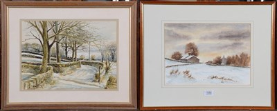 Lot 1058 - W M Parker, Village landscape, signed, watercolour, 31cm by 43cm, and another watercolour by...