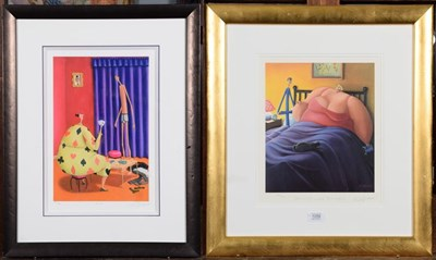 Lot 1059 - Sarah Jane Szikara, ''Chocolate What Chocolate'', signed print; together with another by the...