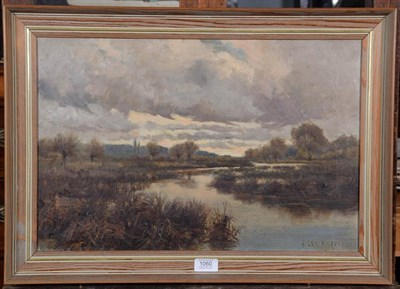 Lot 1060 - A Lee Rogers (19th/early 20th century), Autumn river landscape, signed and dated 1886, oil on...