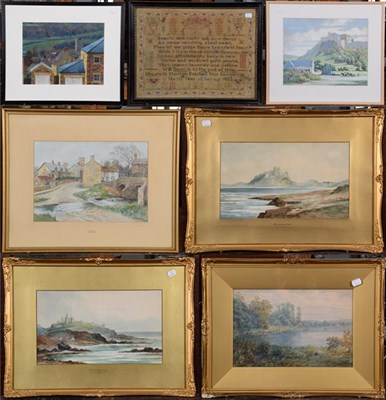 Lot 1065 - A large collection of 19th/20th century watercolours and prints to include J Douglas, views of...