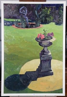Lot 1083 - John Fineran (Contemporary), Afternoon Light, Garden at Derby Road, Belper, May 1992, signed,...