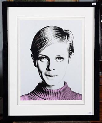Lot 1084 - Nuala Mulligan (Contemporary) ''Cover Girl'' Twiggy Signed and numbered 55/195, silkscreen on...