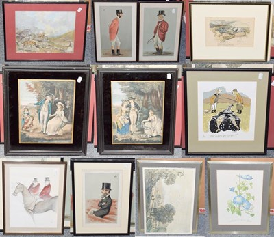 Lot 1088 - A signed hunting print by Lionel Edwards, together with a large collection of 19th/20th century...