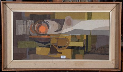 Lot 1090 - Janet Rawlins, large abstract collage, 75cm by 37cm