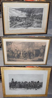 Lot 1095 - Three 19th century prints of Napoleonic & Crimean War subjects, various artists, including...