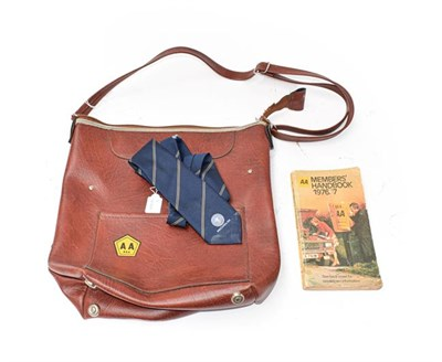 Lot 12 - A Michelin Tyres Salesman's Blue Tie; An AA of South Africa;  Petrol Man's Brown Shoulder Bag;...