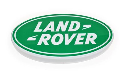 Lot 20 - An Illuminated Car Display Sign: Land-Rover, with low voltage transformer, 58cm diameter