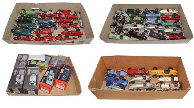 Lot 21 - 1950's Open Wheel Racing Cars: A Collection of Forty-Eight Scratch-Built Painted Wooden Models