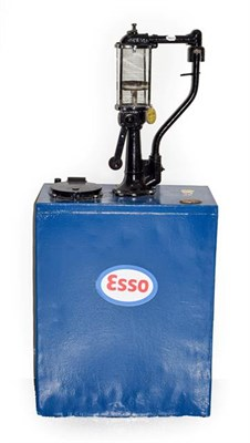 Lot 22 - Anglo-American Oil Company Ltd: A Blue and Black Painted Free-Standing Oil Pump, with later...