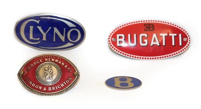 Lot 25 - ~ A 1920/30 London & Brighton Red Enamelled Oval Car Badge, supplied by George Newman & Co,...