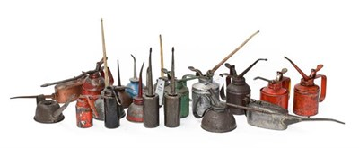 Lot 31 - ~ Twenty Assorted Oil Cans, of various shapes and sizes
