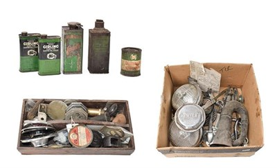 Lot 39 - ~ A Collection of Auto Jumble, to include chrome items, including a pair of Marchal spot lamps,...