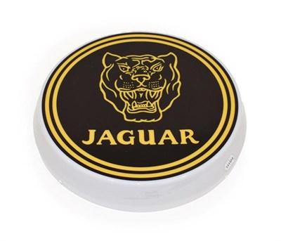 Lot 40 - An Illuminated Car Display Sign: Jaguar, with low voltage transformer, 43cm diameter