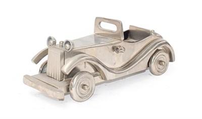 Lot 41 - ~ A Chromed Metal Scale Model of a 1930's Motor Car, 29cm diameter
