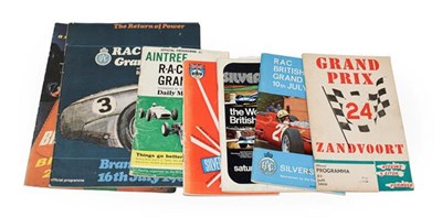 Lot 61 - Race Programmes: Aintree July 15th 1961 RAC British Grand Prix Silverstone RAC British Grand...