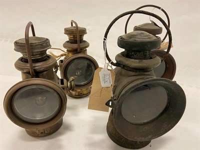 Lot 67 - A Pair of Powell & Hanmer Brass Motor Vehicle Lamps, each applied with manufacturer's plaque...