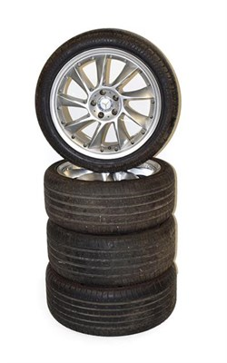 Lot 88 - A Set of Four Mercedes-Benz 19'' Alloy Wheels, fitted with 285/35 ZR19 road-legal tyres
