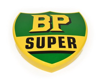 Lot 90 - An Illuminated Car Display Sign: BP Super, with low voltage transformer, 54cm high