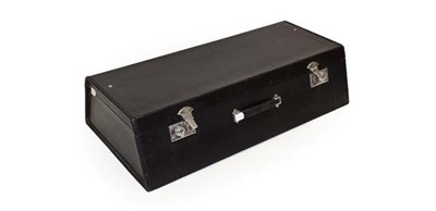 Lot 94 - A Car Travel Case, suitable for a 1930/40 motor car, with hinged lid and chromed fastening...