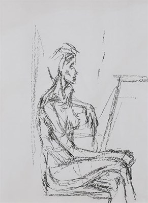 Lot 2001 - After Alberto Giacometti (1901-1966) Italian ''Seated Nude'' Lithograph, 36.5cm by 26.5cm...