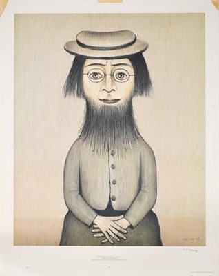 Lot 2009 - After Laurence Stephen Lowry RBA, RA (1887-1976)  ''Woman with Beard'' Signed, with the...