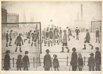Lot 2011 - After Laurence Stephen Lowry RBA, RA (1887-1976) ''The Football Match'' Signed in pencil and...