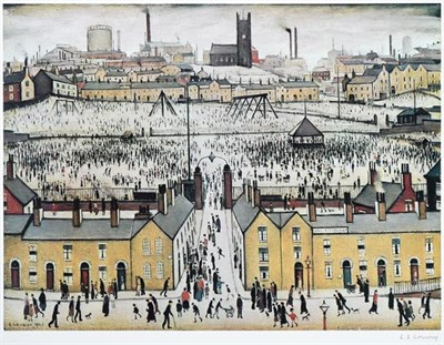 Lot 2013 - After Laurence Stephen Lowry RBA, RA (1887-1976) ''Britain at Play'' Signed, with the...